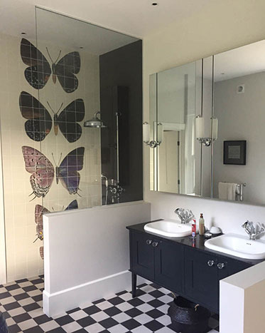 butterfly themed bathroom victorian house renovation