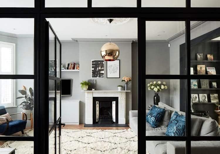door to the living room area
