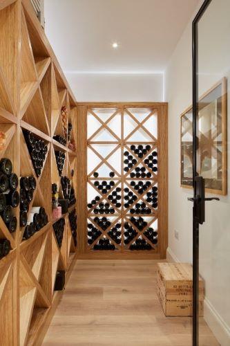 wine storage in the basement