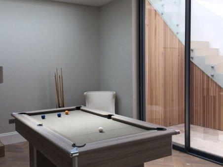 basement renovation pool table