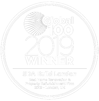 Global 100 - 2019 award logo SDA Build London new